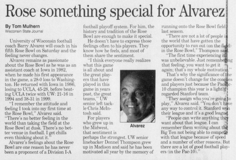 Rose something special for Alvarez