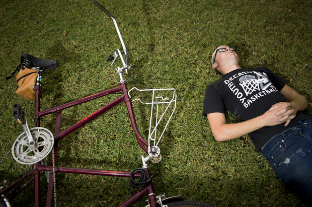 Freshman+Ben+Rogers+welded+two+bike+frames+together+to+make+a+tall+bike+and+uses+as+a+main+source+of+transportation.+Rogers+has+been+interested+in+bicycles+since+high+school+and+plans+to+carry+out+the+hobby+throughout+his+life.+