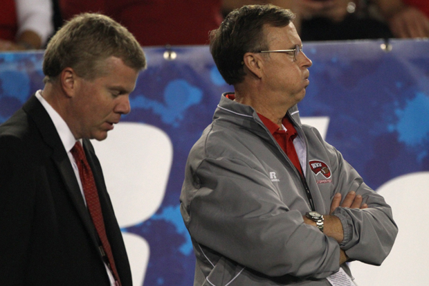 WKU president Gary Ransdell looks on in the final minutes of WKU's loss.