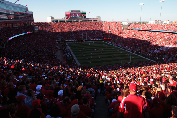 Nebraska fans packed Memorial Stadium for the season-opening game against WKU on Sept. 4, which marked the stadium's 305th straight sellout. Willie Taggart said he'd like to see a similar trend start at WKU's Houchens-Smith Stadium.