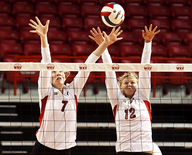 Aided by 53 digs and 11 blocks in the three sets, the WKU volleyball team swept Arkansas-Little Rock on Saturday to stay perfect in Sun Belt Conference play.