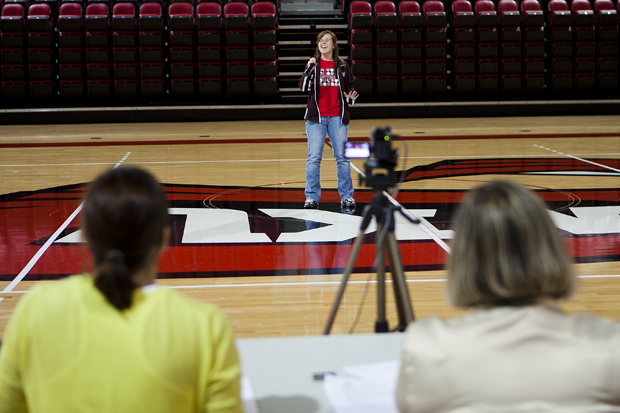 Sarah+Jewell%2C+20%2C+of+Edmonton+sings+during+auditions+held+on+Monday+afternoon+in+Diddle+Arena+for+a+position+to+sing+the+national+anthem+during+WKU+sporting+events.