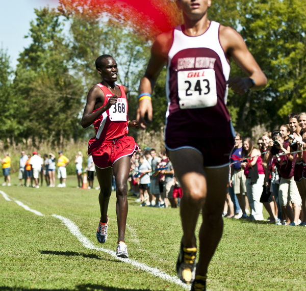 Sophomore Shadrack Kipchirchir led the WKU men at Saturday's Old Timers Classic with a time of 24:40:95.