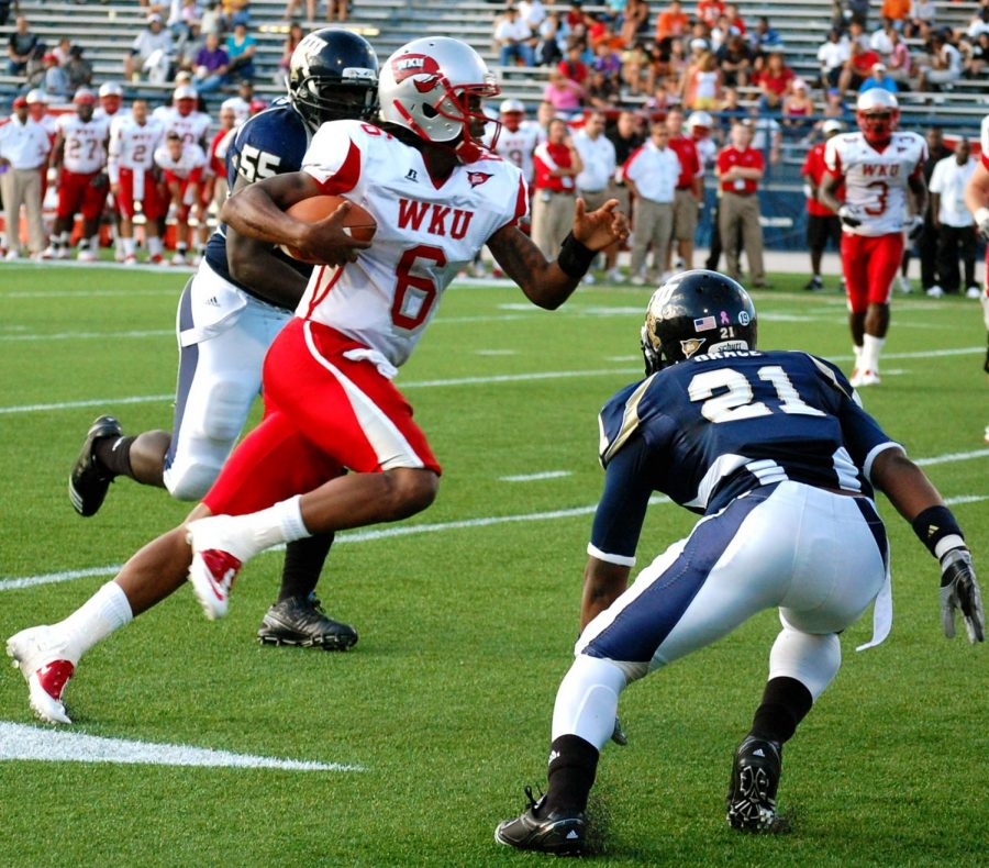 Sophomore quarterback Kawaun Jakes threw for 193 yards and two touchdowns on 14-of-31 passing Saturday in WKU's 28-21 loss at FIU.