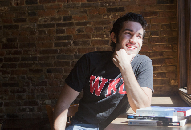 Senior Diego Leal Ambriz is a foreign exchange student from Monterrey, Mexico, who is studying International Business.  Ambriz was only supposed to be at WKU for two semesters, but he loved WKU so much that he transferred here.