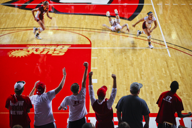 Hudson's Hillraisers, the WKU volleyball student section, has been a fixture at home matches since the 2009 season. It's now made up of more than 50 members.