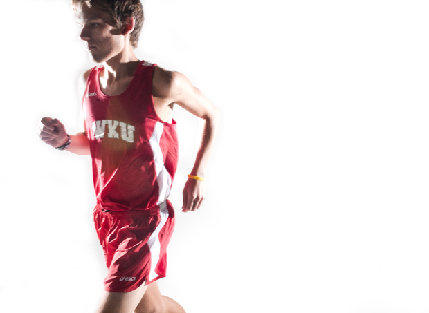 RYAN STONE/HERALD Bowling Green sophomore Lucas Somers recently returned to WKU's cross country team after recovering from cancer in January. Somers was diagnosed with stage-three testicular cancer last October.
