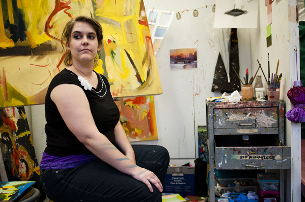 Megan Hensley, 23, is a senior art student from Lexington who specializes in oil painting.  She graduates in December 2010.
