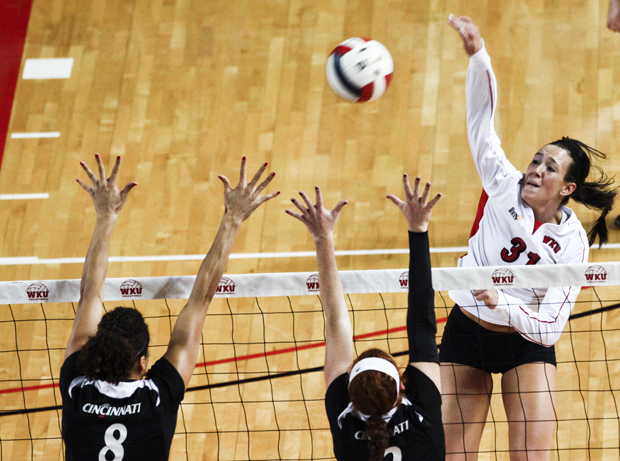 """Senior outside hitter Emily Teegarden's final season has transformed into a success from where it started in September. """"I realized that I was just thinking about it too much instead of going out and doing what I always do,"""" she said."""