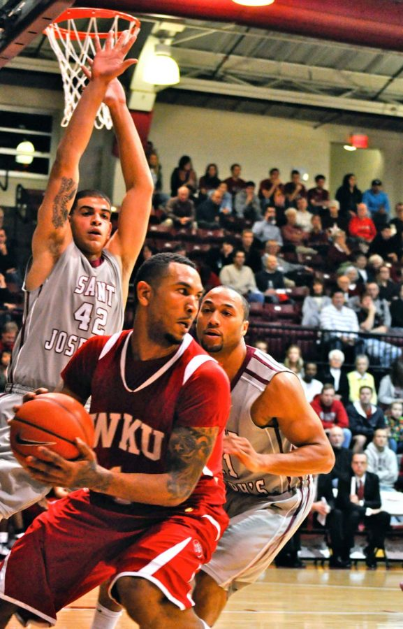 Senior forward Sergio Kerusch scored 31 points off the bench and added nine rebounds in WKU's season opener on Friday, a 98-70 win at St. Joseph's.