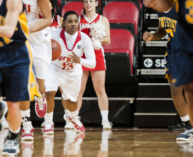 Senior Hope Brown has moved from point guard back to shooting guard now that senior Amy McNear has returned to the Lady Toppers' lineup. Since then, Brown has averaged almost 10 points per game.  NOTE: Jonathan says he wants to add a stat to this.