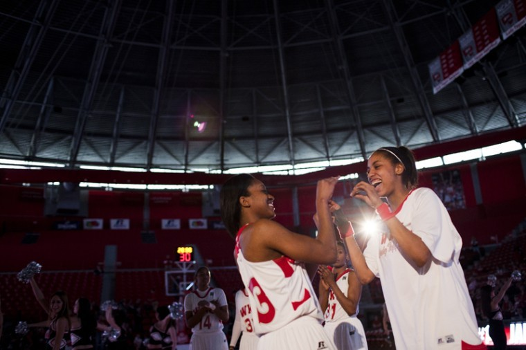 Junior+guard+Vanessa+Obafemi+%28left%29+slaps+hands+with+Jasmine+Johnson+as+she+is+introduced+as+part+of+the+starting+lineup+for+WKU+against+Troy+at+Diddle+Arena+last+Saturday.+The+Lady+Toppers+head+to+Florida+for+two+games+this+week%2C+a+trip+they+said+theyll+use+to+bond.