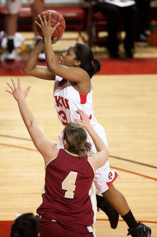 The+Lady+Toppers+had+four+players+score+in+double+figures+in+their+73-46+win+over+FAU+Sunday.+The+blowout+was+WKU%27s+largest+margin+of+victory+this+season.