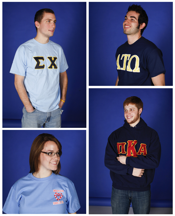 There are four Greek presidents in the Student Government Association. They include (top left) Danville junior Eric Smiley, Sigma Chi fraternity, (top right) Senior Diego Leal Ambriz, Alpha Tau Omega fraternity, from Monterrey, Mexico, (bottom left) Bowling Green junior Katie Stillwell, Omega Pi Alpha sorority, and (bottom right) Morganfield senior Adam Sheridan, Pi Kappa Alpha fraternity.