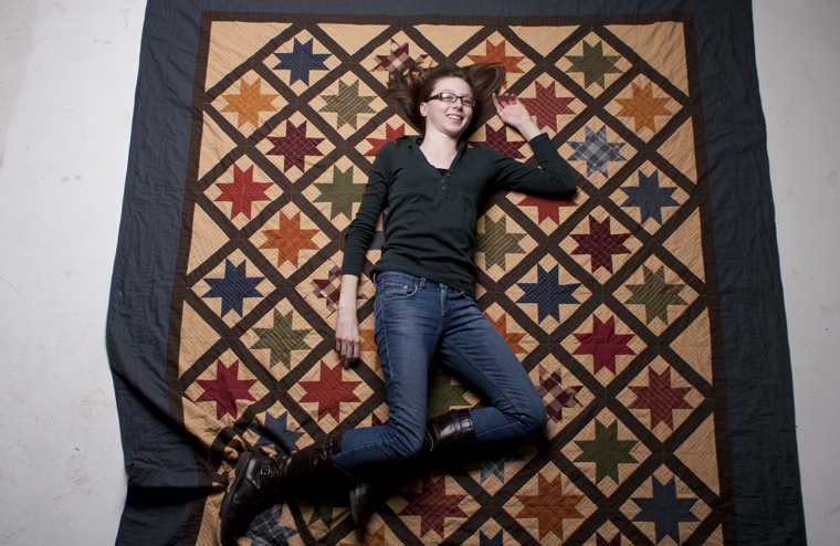 Jordan Olberding, a sophomore from Oceanside, Calif., is an avid quilter. Olberding started quilting at 16 and has completed over six full-size quilts since. She recently brought her quilting supplies back to school with her and works on quilts in her spare time.
