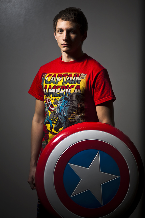 Union senior Derek Noem, the Guild Master of WKU's Gamers' Guild, sometimes wears his Captain America shirt and pajama pants along with carrying a replica of Captain America's shield during his shifts as a resident assistant at McCormack Hall. Noem believes Captain America is a good, moral role model for people.