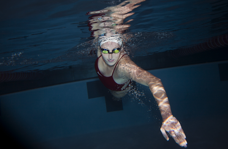 WKU+senior+swimmer+Claire+Donahue+moves+through+the+water+in+the+Powell+Natatorium+pool+on+Wednesday.+Over+the+last+four+years+at+WKU%2C+Donahue+has+concentrated+on+the+butterfly+stroke%2C+placing+fourth+in+the+nation+for+the+100+butterfly+at+the+2010+NCAA+Swimming+Championships.+Donahue+says+since+she+has+made+significant+progress+each+year+with+WKU%2C+she+will+stay+here+to+train+for+the+London+Olympics+in+2012.