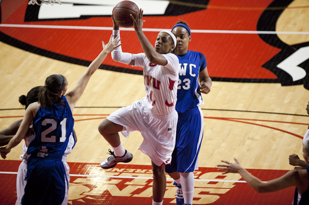 Head+Coach+Mary+Taylor+Cowles+said+Monday+that+sophomore+forward+Janae+Howard+has+left+the+team.+Howard%2C+WKU%27s+leading+scorer%2C+leaves+with+four+games+left+in+the+regular+season.