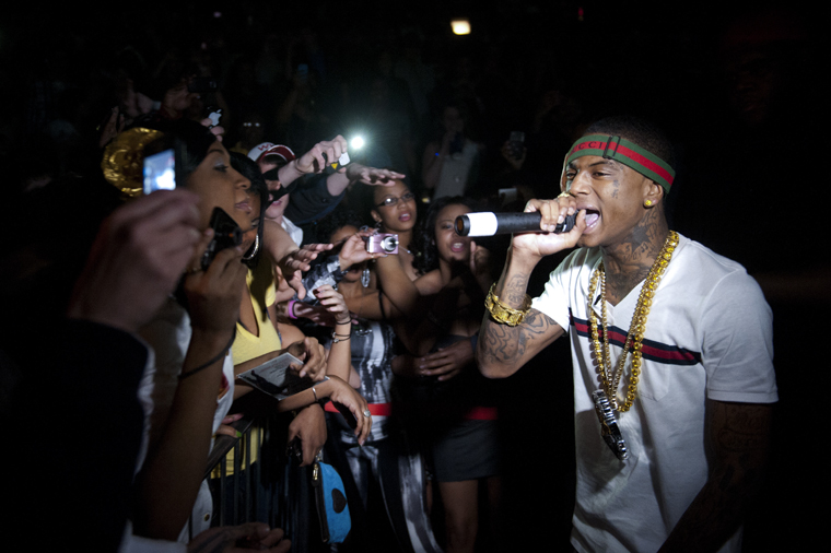 Soulja+Boy+jumped+offstage+to+engage+with+the+crowd+during+his+set+at+the+Winter+Jam+Concert+at+Diddle+Arena+on+Friday%2C+February+25%2C+2011.++Ray+J+opened+for+Soulja+Boy%2C+while+Yo+Gotti+closed+out+the+night.++