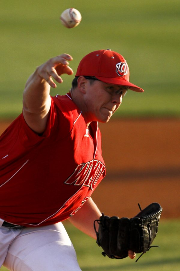 WKU%27s+Rye+Davis+pitches+during+the+Toppers%27+game+against+Murray+State+at+Nick+Denes+Field+on+Wednesday+evening.+WKU+won+3-2.+