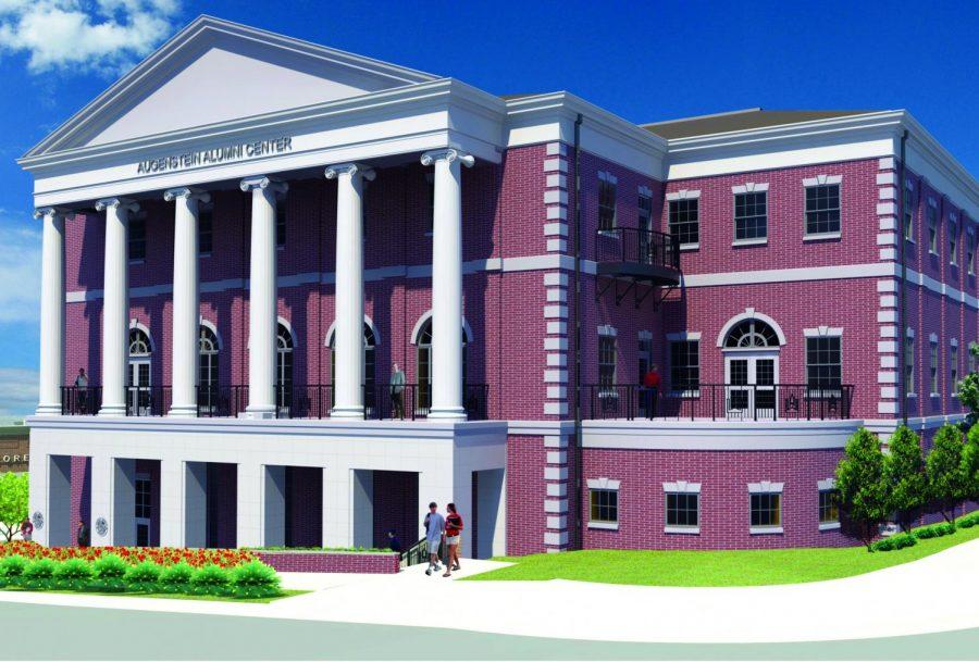 A+rendering+of+the+new+Augenstein+Alumni+Center.