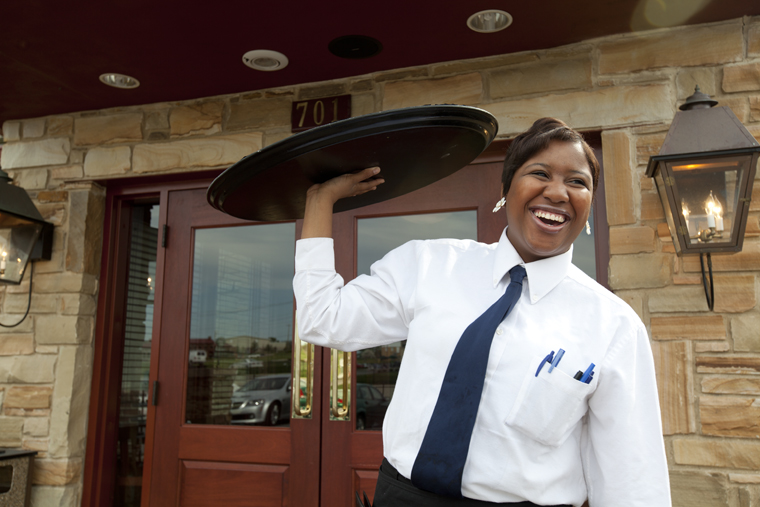 La Grange junior Tia Allen enjoys being a waitress at Cheddar's Casual Cafe. Allen has worked there for two months.