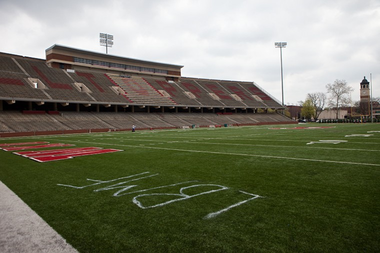 Campus police are looking into a tag on WKU's Feix Field, which officials assume was vandalized sometime Thursday night.