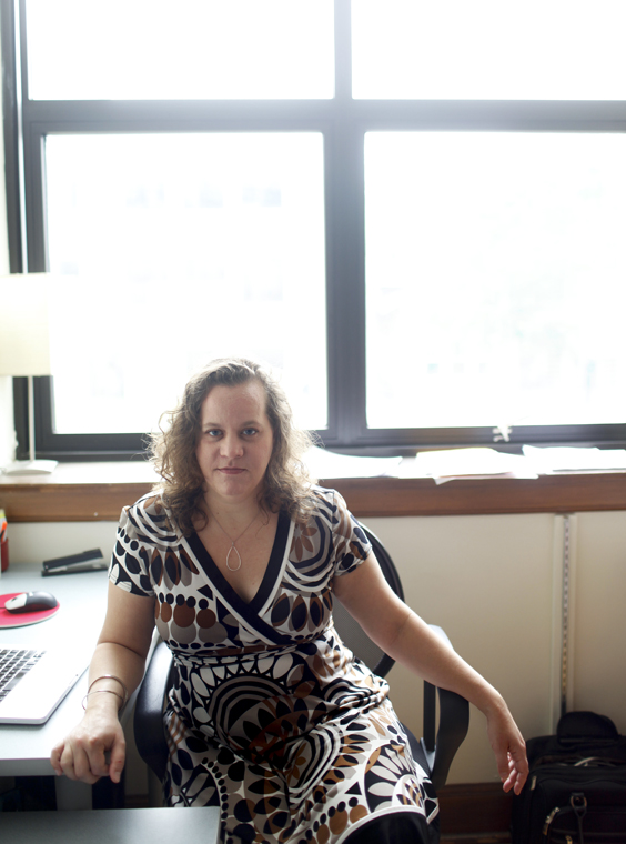 """English instructor Molly McCaffrey recently published a book of short stories called """"How to Survive Graduate School.""""  McCaffrey has been working on the book for 16 years. """"I'm really happy, I'm thrilled,"""" she said."""