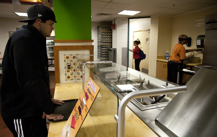 WKU replace Tacos Last Stand, pictured here, with a second Izzis Southwest campus location this year in the Downing University Centers food court. The university also added a salad bar and moved sushi to coolers.