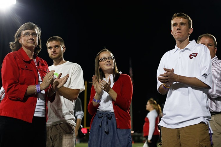 The Gott family was recognized as the Family of the Year during halftime at the WKU football game in Houchens Smith Stadium on Sept. 17, 2011. Emily Gott, sophomore from Bowling Green, KY. nominated her family for the award.