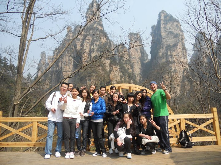 Reece+Schenkenfelder+poses+with+students+at%0Athe+National+Forest+Parker+at+Zhangjiajie.+The+Hallelujah+mountain%0Alocated+within+the+park+was+inspired+James+Cameron%27s+mountains+in%0Athe+movie+%22Avatar.%22%0A%C2%A0%0A