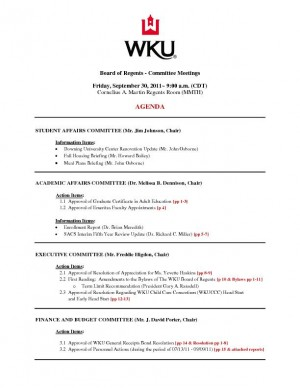 Committees to discuss WKU faculty, staff regents term limits