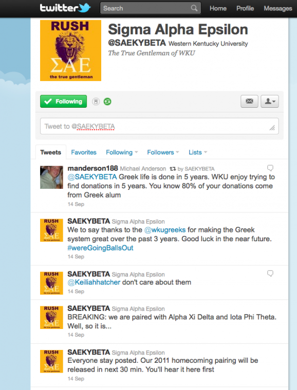A screen shot of @SAEKYBETA recent Tweets as of Friday afternoon.