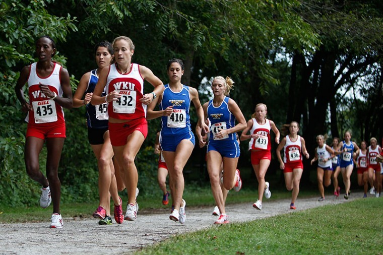 Western Kentucky University Cross Country team raced against Morehead State University and Kentucky Wesleyan Univeristy, at Kereiakes Park on Saturday. WKU took first place in both the Men's and Women's races.