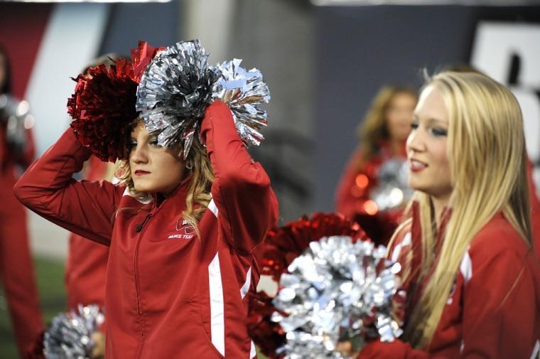 WKU+cheerleaders+cringe+as+Arkansas+State+scores+their+winning%0Atouchdown+against+Arkansas+State+at+Smith+Stadium+on+Saturday.+WKU%0Alost+26-22.%0A