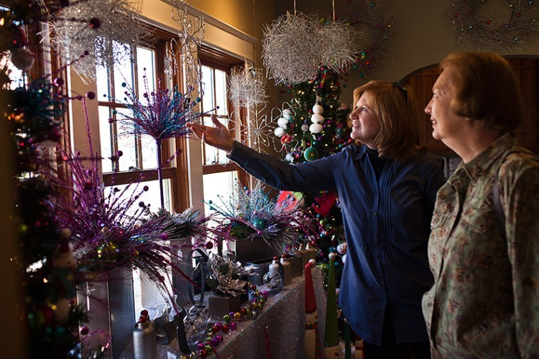WKU's Floral Design Training Center, which opened this semester, is decorated for the holidays and held an open house earlier this month.