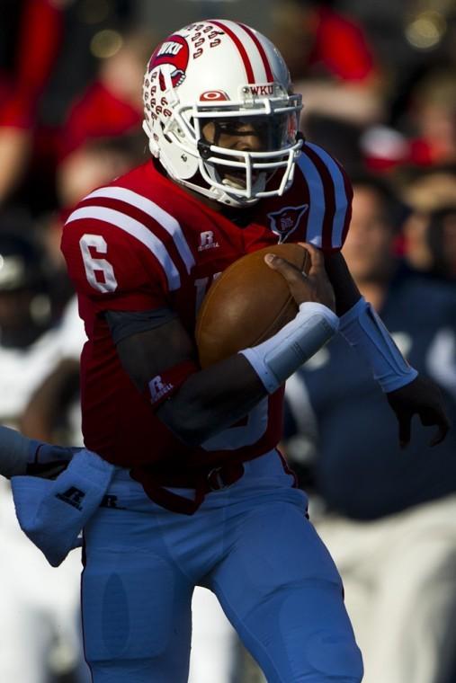 Junior+quarterback+Kawaun+Jakes+will+lead+WKU+against%0Aa+talented+LSU+secondary+on+Saturday.%0A