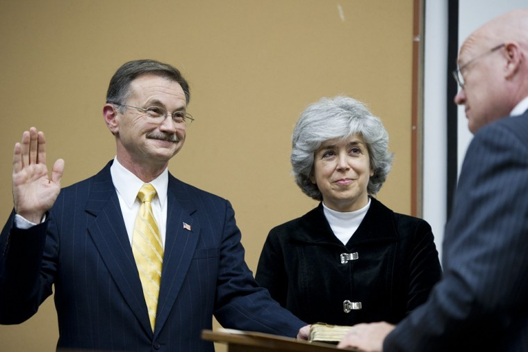 Bruce Wilkerson, a former Bowling Green city commissioner, was sworn in Tuesday as mayor.