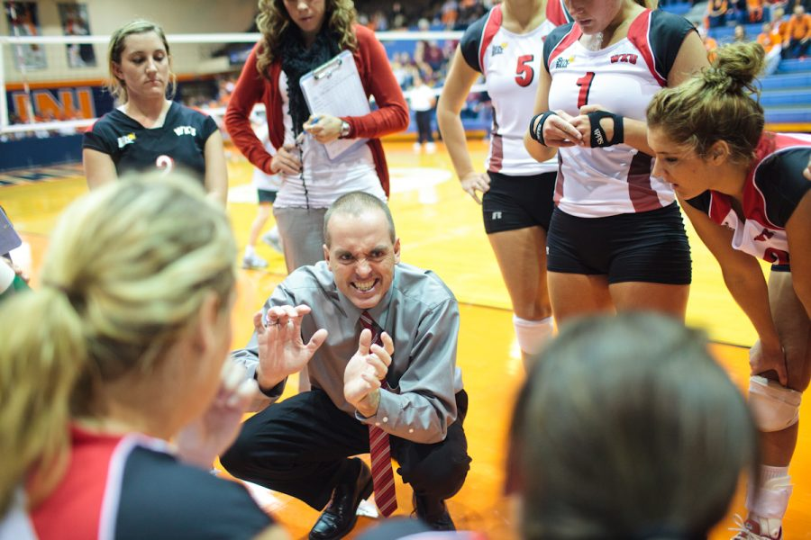 Head Coach Travis Hudson and the WKU volleyball team return every player except for Lindsay Williams and Tiffany Elmore, who are lost to graduation.