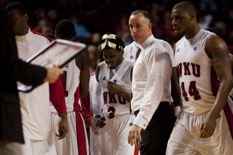 Former+Head+Coach+Ken+McDonald+stands+amongst+his+team+during+a%0Atimeout+of+his+last+game%2C+against+the+University+of%0ALouisiana-Lafayette+on+Jan.+5%2C+2012.+McDonald+will+be+replaced+with%0ARay+Harper+as+head+coach.%C2%A0%0A