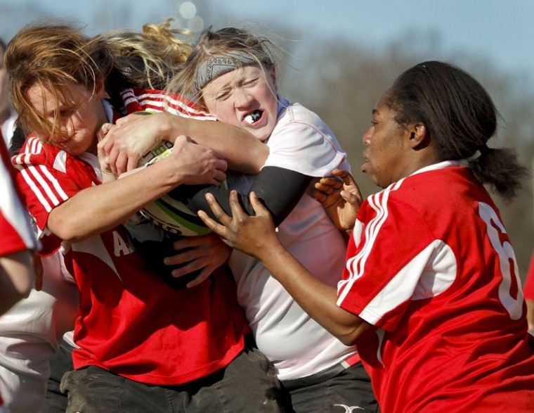 Christina+Bradley+fights+for+the+ball+during+the+Women%27s+Club%0ARugby+Team%27s+10-69+loss+to+the+University+of+Alabama+Saturday+at%0Athe+Preston+Intramural+Complex.%0A