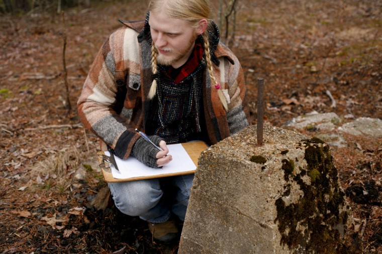 Senior anthropology major Jack LeSieur does field research in his hometown of Brownsville as part of his Anthropology Stewardship Class. His research includes mapping the remains of a church that was built in 1925, and his findings will be presented at the WKU Student Research Conference.