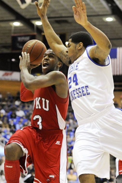 Senior+guard+Kahlil+McDonald+drives+for+a+basket+Thursday%0Aagainst+Middle+Tennessee+State+at+the+Murphy+Center.+WKU+lost%0A72-64.%0A