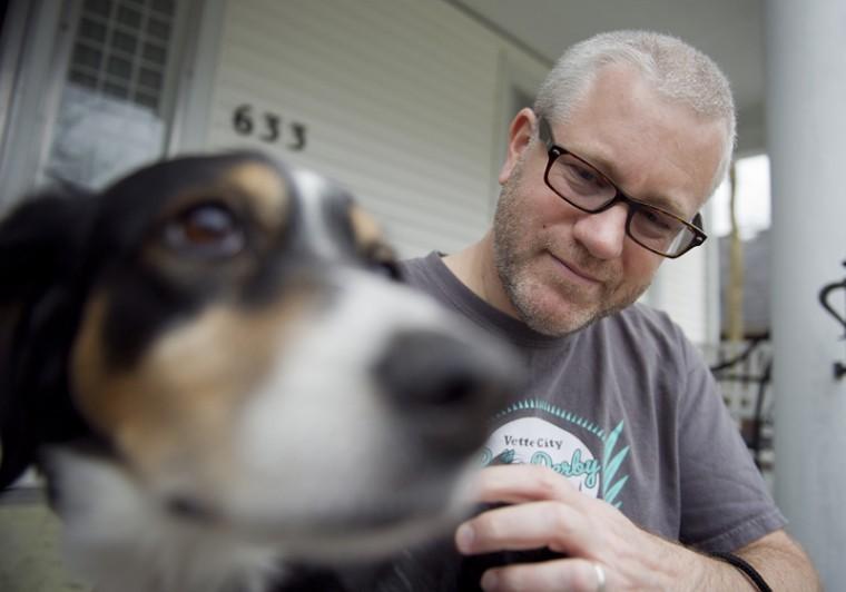CJ Johanson and his dog, Kumiko, an English Setter mix, share an innate bond. Johanson and his wife, WKU associate art professor Yvonne Petkus, have had Kumiko since 2005.