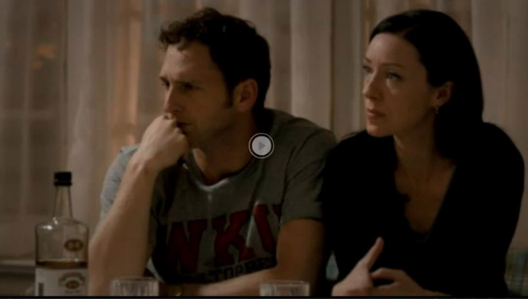 A screen shot from NBC's television show, The Firm, which is based on Josh Grisham's 1991 novel. Actor Josh Lucas is wearing a WKU Hilltoppers t-shirt.