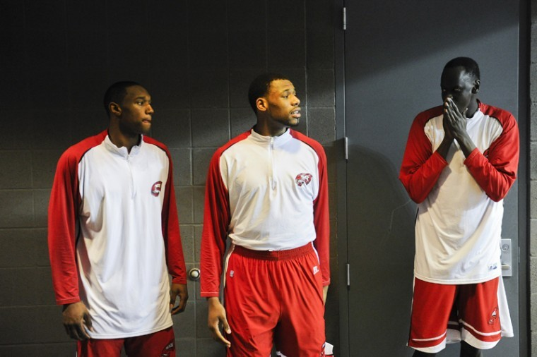 WKU prepares before their game against North Texas in the Sun Belt Tournament in Hot Springs, Ark. WKU defeated the Mean Green 74-70 to win the Sun Belt Conference Tournament and earn an NCAA Tournament berth.