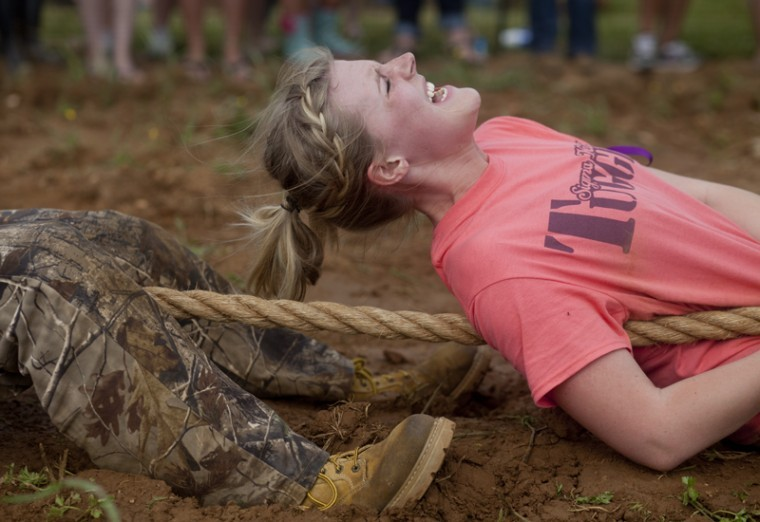 WKU+freshman+Sarah+Hunton+of+Sigma+Kappa+sorority+competes+with+her+teammates+during+Tug+at+the+University+Farm+on+Friday.+Tug+was+held+as+part+of+the+annual+Greek+week.%0A