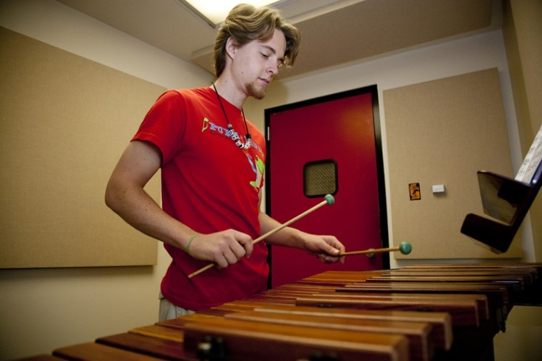 Bowling+Green+junior+Daniel+McKillip+practices+the+xylophone+Thursday+afternoon+in+a+practice+room+in+the+fine+arts+center.+McKillip+has+been+playing+xylophone+since+he+was+6+years+old+and+hopes+to+play+professionally+after+he+graduates.%0A