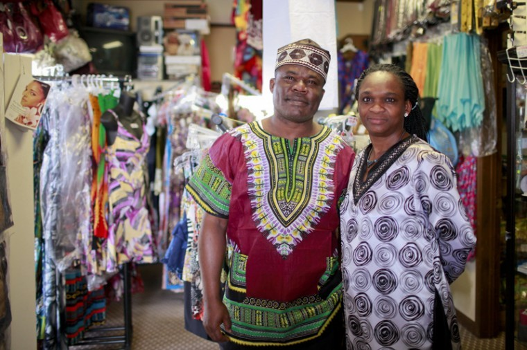 Emmanuel and Abiola Iyiegbuniwe, from Nigeria, started their store, KaCee International Market, in Bowling Green three years ago. The store offers a variety of authentic African clothing, food, jewelry and other items.