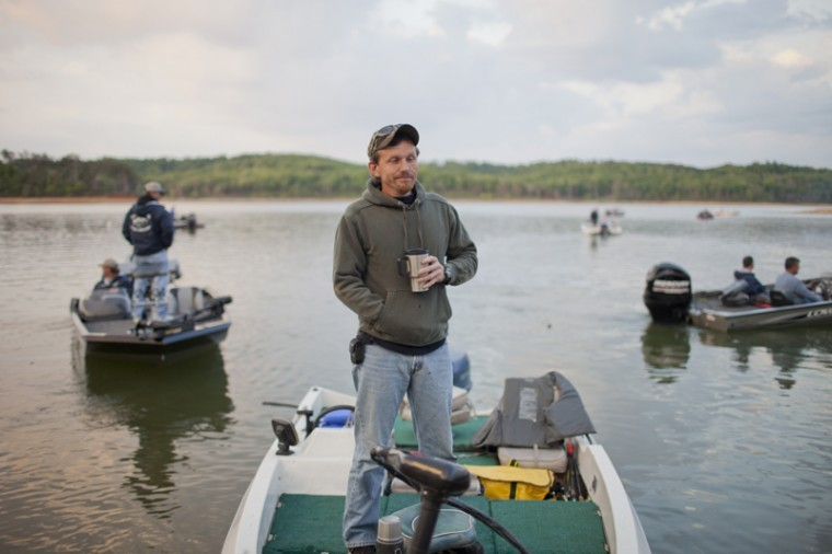 Jim+Sloan%2C+of+Hart+County%2C+waits+for+the+start+of+the+eighth+annual+Black+Bag+Classic+bass+fishing+tournament+Saturday+at+Nolin+Lake.+Proceeds+from+the+tournament%2C+hosted+by+WKU+Recreation+Program%2C+went+to+Big+Brothers+Big+Sisters+of+South+Central+Kentucky.%0A
